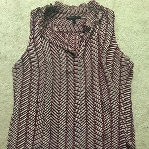 Burgundy sleeveless blouse
